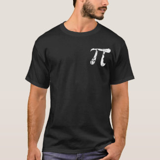 Símbolo branco do Pi do Grunge Camiseta