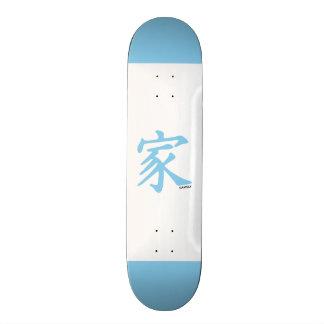 Símbolo chinês da família dos azuis bebés skates