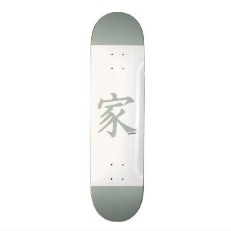 Símbolo chinês das cinzas de cinza para a família skate