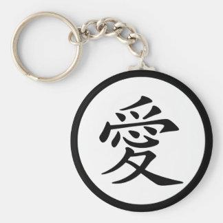 Símbolo chinês do amor chaveiro