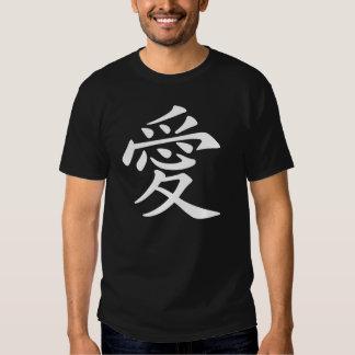 Símbolo chinês do amor tshirt