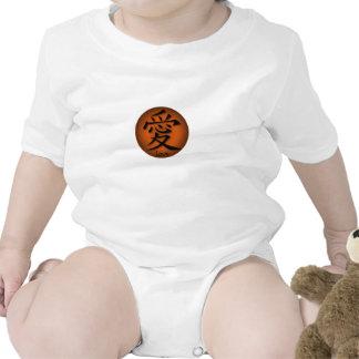 Símbolo chinês do Creeper infantil para o amor no  Tshirt