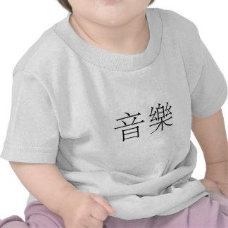 Símbolo chinês para a música camiseta