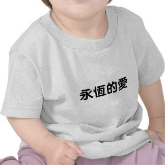 Símbolo chinês para o amor eterno tshirt