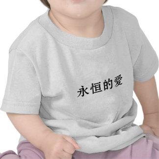 Símbolo chinês para o amor eterno tshirts