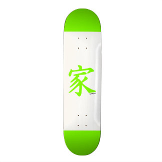 Símbolo chinês verde Chartreuse de néon da famíli Skate Boards