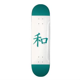 Símbolo chinês verde da cerceta para a paz skates personalizados
