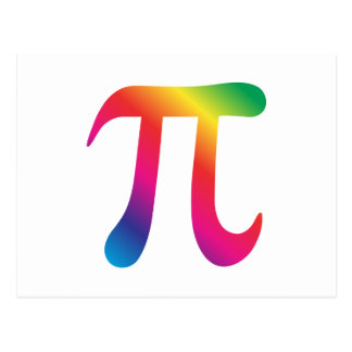 Símbolo colorido do pi cartoes postais