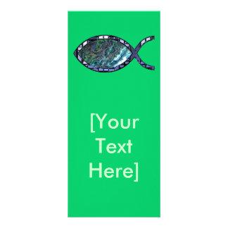Símbolo cristão brilhante dos peixes 10.16 x 22.86cm panfleto