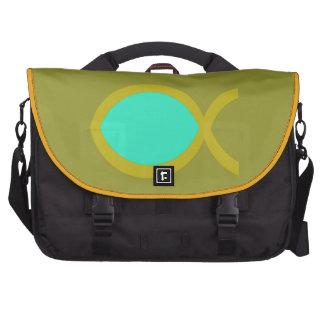 Símbolo cristão dos peixes mochila para laptop