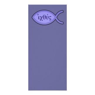Símbolo cristão dos peixes de IXOYE - pergaminho 10.16 X 22.86cm Panfleto