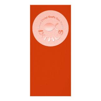 Símbolo cristão dos peixes de IXTHUS - COBRE 10.16 X 22.86cm Panfleto