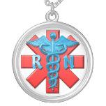 Símbolo da enfermeira diplomada colar personalizado