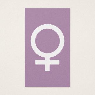 Símbolo da fêmea da erva da lavanda cartão de visitas