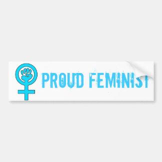 Símbolo da feminista do poder das mulheres adesivo para carro