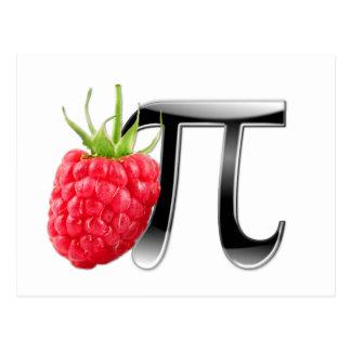 Símbolo da framboesa e do Pi Cartoes Postais