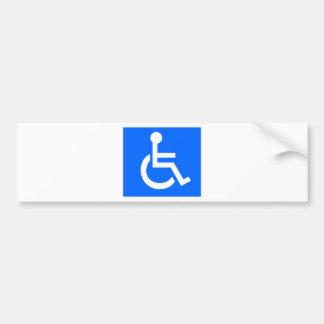 Símbolo da inabilidade adesivo para carro