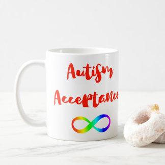 Símbolo da infinidade da aceitação do autismo caneca de café