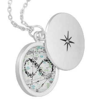 Símbolo da infinidade, jóia do mapa, jóia do avião colar medalhão