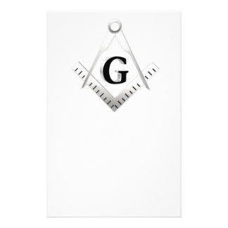 Símbolo da maçonaria panfletos personalizados