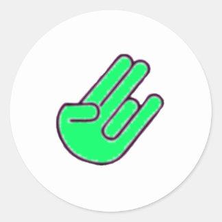 Símbolo da mão de choque adesivo