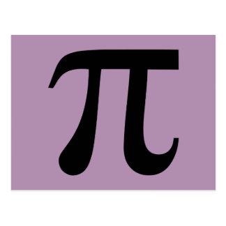 Símbolo da matemática do Pi Cartão Postal