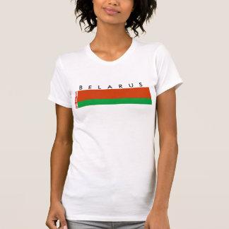 símbolo da nação da bandeira de país de belarus tshirts