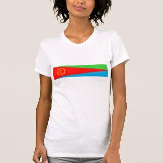 símbolo da nação da bandeira de país de eritrea camiseta