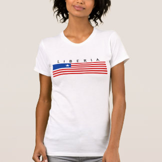 símbolo da nação da bandeira de país de liberia t-shirts
