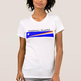 Símbolo da nação da bandeira de país de Marshall Camisetas
