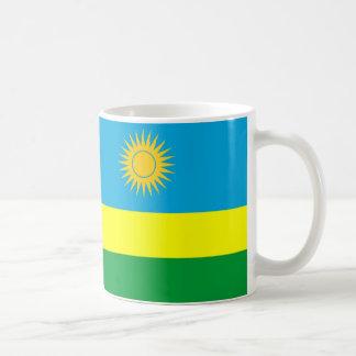 símbolo da nação da bandeira de país de rwanda caneca de café