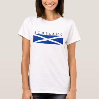 símbolo da nação da bandeira de país de scotland camiseta
