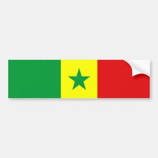 símbolo da nação da bandeira de país de senegal adesivo para carro