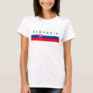 Símbolo da nação da bandeira de país de Slovakia Camiseta