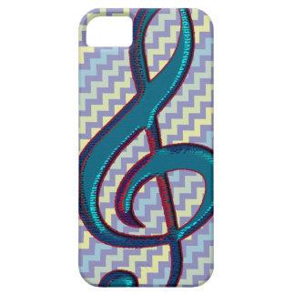 símbolo da nota do clef da música na viga capa barely there para iPhone 5