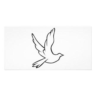 Símbolo da pomba cartão com foto