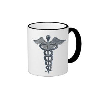 Símbolo da profissão médica caneca com contorno