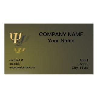Símbolo da psicologia no fundo do ouro cartão de visita