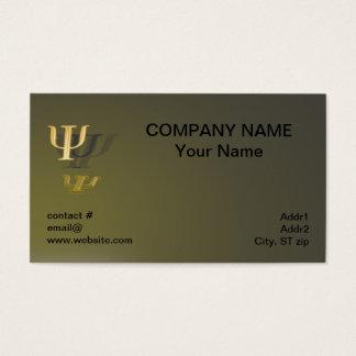 Símbolo da psicologia no fundo do ouro cartão de visitas