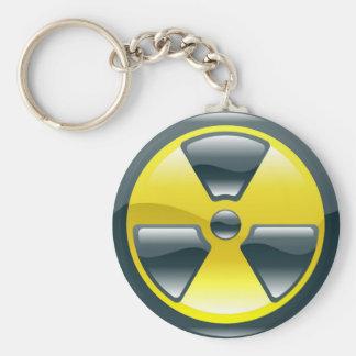 símbolo da radiação chaveiro