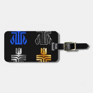 Símbolo da religião presbiteriano tag de mala