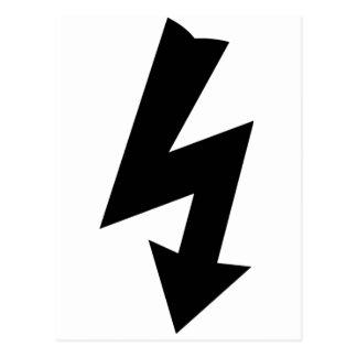 Símbolo de advertência elétrico cartão postal