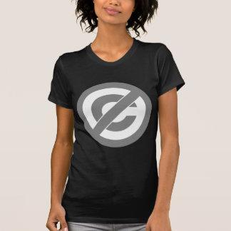 Símbolo de Anti-Copyright do dominio público Tshirt