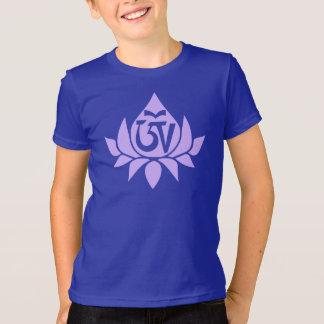 Símbolo de Aum do tibetano e t-shirt do miúdo de Camiseta