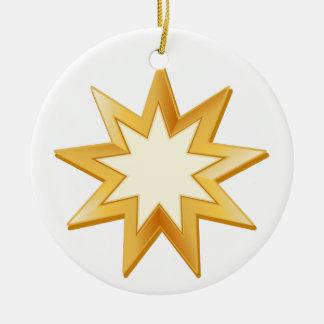 Símbolo de Baha'i Ornamento De Cerâmica