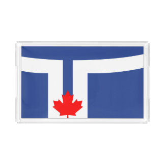 Símbolo de Canadá da bandeira da cidade de Toronto Bandeja De Acrílico