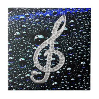 Símbolo de Gclef da música Azulejo Quadrado Pequeno
