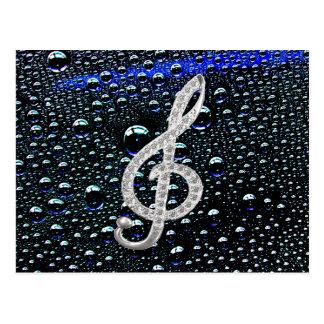 Símbolo de Gclef da música Cartão Postal