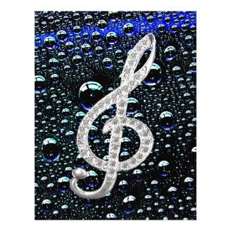 Símbolo de Gclef da música Papeis De Carta Personalizados