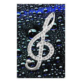 Símbolo de Gclef da música Papelaria